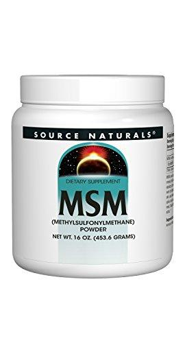 Source Naturals MSM (Methylsulfonylmethane) Powder 16 Ounces(453.6 Grams), [wellica]