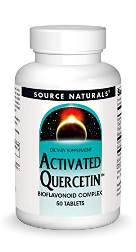 Source Naturals Activated Quercetin - Plant-Derived Bioflavonoid Complex - Seasonal & Immune Defense - 50 Tablets Vegetarian Friendly