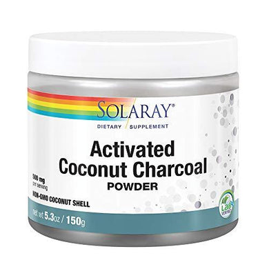 Solaray Activated Coconut Charcoal Powder 500 mg | Healthy Inner Cleansing & Digestive Tract Support | 300 Servings