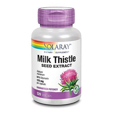 Solaray Milk Thistle Seed Extract 175mg | Antioxidant Intended to Help Support a Normal, Healthy Liver | Non-GMO & Vegan | 120 VegCaps, [wellica]