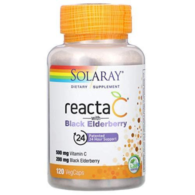Solaray Reacta-C + Elderberry 500 mg VCapsules | 120 Count