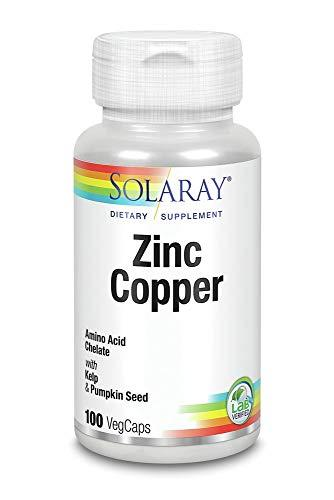 Zinc with Copper Solaray 100 VegCaps
