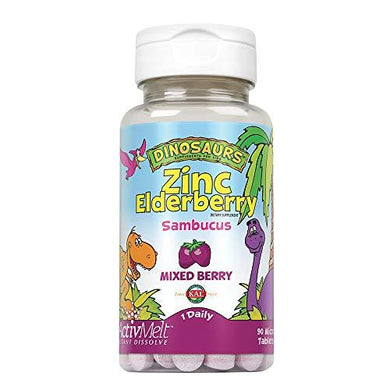 Kal 5 Mg Berry Zinc Elderberry Tablets, 90 Count