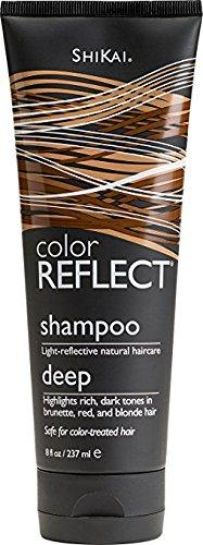ShiKai - Color Reflect Deep Moisture Shampoo, All Shades of Brown Hair Take on a Deeper Glow, Adds Weightless Body & Shine, Helps Protect & Extend Color Treated Hair (Unscented, 8 Ounces), [wellica]