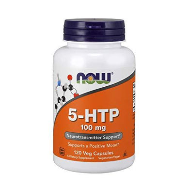 NOW Supplements, 5-HTP (5-hydroxytryptophan) 100 mg, Neurotransmitter Support*, 120 Veg Capsules, [wellica]