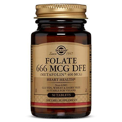Folate 666 MCG DFE (Metafolin® 400 MCG) Tablets - 50 Count