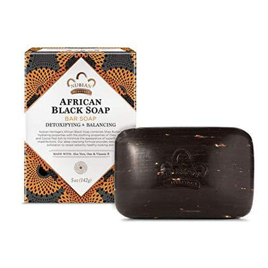 Nubian Heritage African Black Bar Soap with Oats and Aloe Vera,5 Ounce, [wellica]
