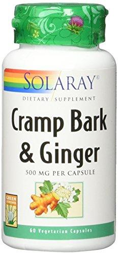 Solaray Cramp Bark & Ginger Root, Veg Cap (Btl-Plastic) 500mg | 60ct