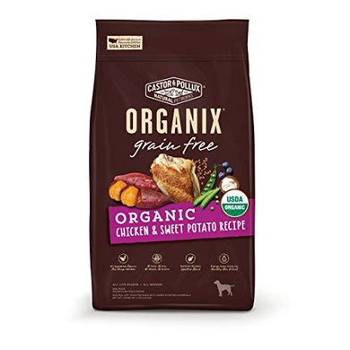 Castor & Pollux Organix Grain Free Organic Chicken & Sweet Potato Recipe Dry Dog Food, [wellica]