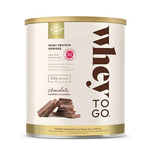 Solgar Whey to Go Protein Powder Natural Chocolate Flavor - Wellica - {{ shop.location }}