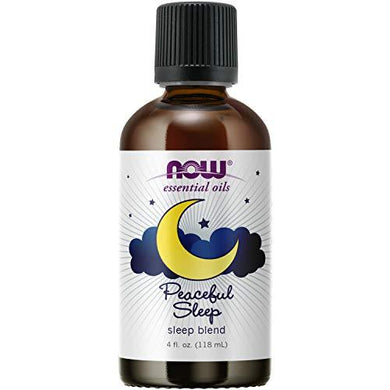 NOW Essential Oils, Peaceful Sleep Oil Blend, Relaxing Aromatherapy Scent, Blend of Pure Essential Oils, Vegan, Child Resistant Cap, 4-Ounce, [wellica]