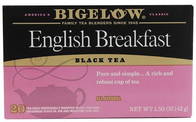 Bigelow Tea Black Tea English Breakfast -- 20 Tea Bags - 2 pc, [wellica]