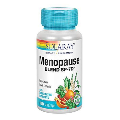 Solaray Menopause Blend SP-7D | Herbal Blend w/Cell Salt Nutrients to Help Provide Menopause Support | Non-GMO, Vegan | 50 Servings | 100 VegCaps