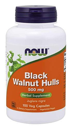 Now Foods - Black Walnut Hulls, 500 mg, 100 Capsules