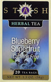 Blueberry Superfruit Herbal Tea Stash Tea 20 Bag - Wellica - {{ shop.location }}