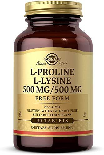 Solgar - L-Proline/L-Lysine (500/500 mg) 90 Tablets, [wellica]
