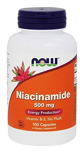 Now Foods Niacinamide 500mg, Vitamin B-3 Capsules, 100-Count, [wellica]