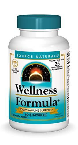 Source Naturals Wellness Formula Bio-Aligned Vitamins & Herbal Defense for Immune System Support - Dietary Supplement & Immunity Booster - 60 Capsules, [wellica]