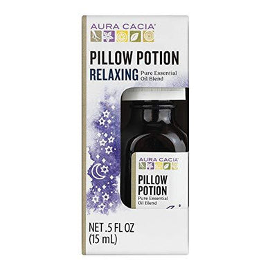 Aura Cacia Pillow Potion Essential Oil Blend | 0.5 fl. oz. in Box