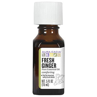 Aura Cacia Fresh Ginger Essential Oil | GC/MS Tested for Purity | 15ml (0.5 fl. oz.)