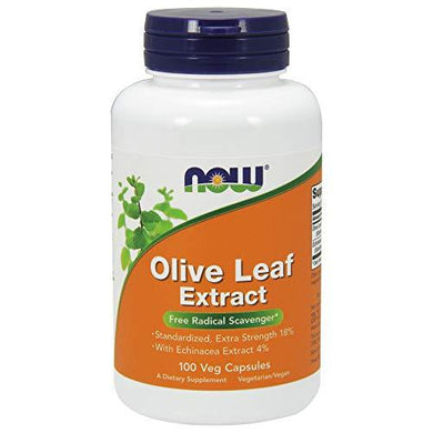 NOW Supplements, Olive Leaf Extract with Echinacea Extract 4%, Extra Strength, Free Radical Scavenger*, 100 Veg Capsules