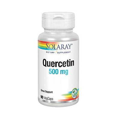 Solaray Quercetin 500mg | Support for Healthy Cells, Heart, Circulatory & Respiratory System | Bioflavonoids, Antioxidants, AMPK Activator | 90 Count