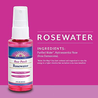 Heritage Store Rosewater Spray | Hydrating Mist for Skin & Hair | No Dyes or Alcohol, Vegan, [wellica]