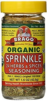 Bragg Sprinkle Herb and Spice Seasoning, 1.5 oz (Pack of 6)