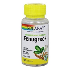 Organically Grown Fenugreek Seed 620mg Solaray 100 Caps