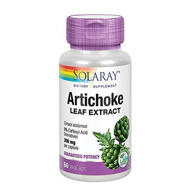 Solaray Artichoke Leaf Extract 600mg | Guaranteed Potency | Healthy Liver, Gall Bladder & Digestive Function Support | Lab Verified | 60 VegCaps, [wellica]