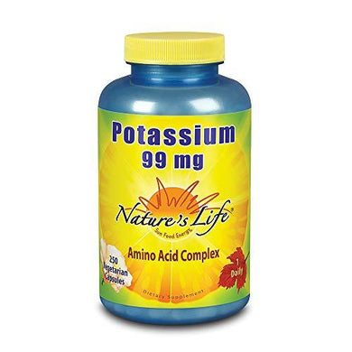 Nature's Life Potassium , Gluconate, Citrate & Asparate, 99 Mg, 250 Capsules
