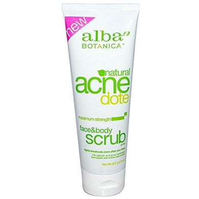 Alba Botanica Natural Acnedote Face & Body Scrub, 8 Fl Oz