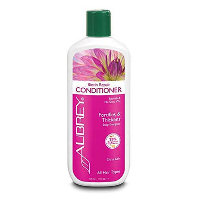 Aubrey Biotin Repair Conditioner | Helps Strengthen Fine/Thin Hair | Baobab Oil, Ho Shou Wu | 75% Organic Ingredients | All Hair Types, 11oz