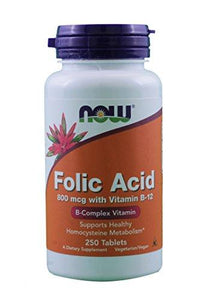 B9 (Folic Acid), Now Foods, preferred brand, virus buster, Vitamin B, Vitamins, Vitamins & Dietary Supplements - Wellica