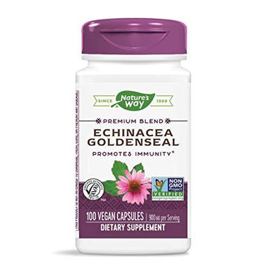 Nature's Way Echinacea Goldenseal, 450 mg, 100 Vcaps (Packaging May Vary)