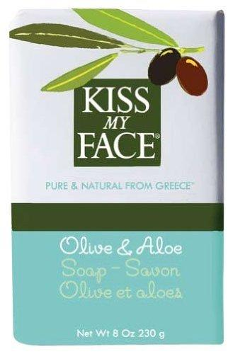 Kiss My Face Moisturizing Bar Soap for All Skin Types - Olive & Aloe - 8 oz, [wellica]