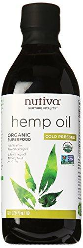Nutiva Organic Cold-Pressed Hemp Oil, 16 oz, [wellica]
