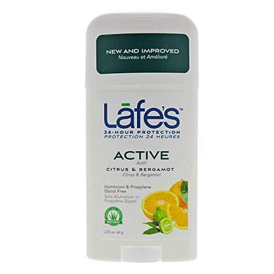 Lafe's Deodorant Stick All Natural Active - 2.25 Oz, New Pack, 2.25 Oz