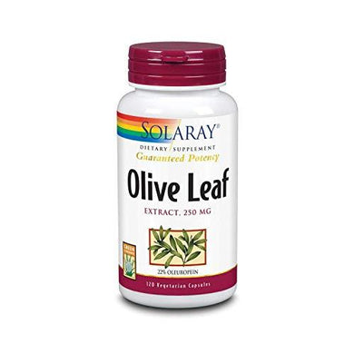 Solaray Guaranteed Potency Olive Leaf Extract, Veg Cap (Btl-Plastic) 250mg | 60ct