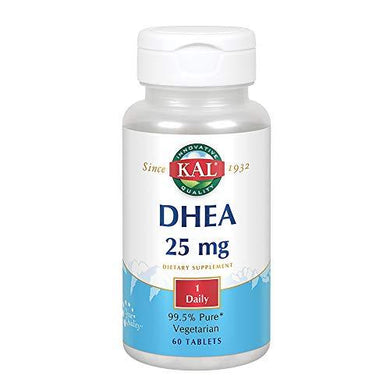 KAL DHEA Vegetarian Tablets, 25 mg, 60 Count