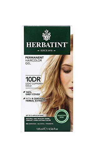 Herbatint Permanent Haircolor Gel, 10DR Light Copperish Gold, 4.56 Ounce
