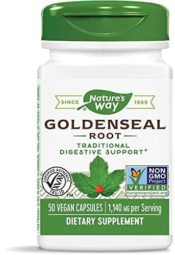Nature's Way Premium Herbal Goldenseal Root, 1,140 mg per serving, 50 Capsules