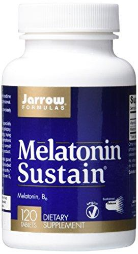 Jarrow Formulas Melatonin Sustained 1mg, Brain and Memory Support, 120 Tabs
