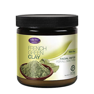 Life-Flo French Green Clay Detox Mask, Unscented, 7.5 ounce