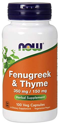 Now Foods Fenugreek & Thyme 100 Vcaps