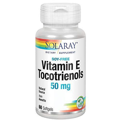 Solaray Vitamin E Tocotrienols 50mg | Healthy Cardiovascular & Brain Function Support | Soy Free | 50ct