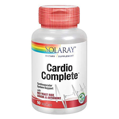 Solaray CardioComplete, Cardiovascular System Support | Red Yeast Rice, Guggul & Artichoke Extracts & More | 90 VegCaps, [wellica]