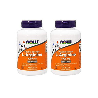 Now Foods L-Arginine 1000mg, 120 Tablets (2 Pack), [wellica]