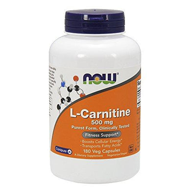 Now Foods L-Carnitine 500 mg 180 Capsules, [wellica]
