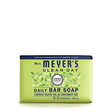 Mrs. Meyer's Clean Day Bar Soap, Use as Body Wash or Hand Soap, Cruelty Free Formula, Lemon Verbena Scent, 5.3 oz, [wellica]